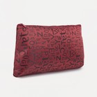 Rectangular cosmetic bag Letters zipper, color red