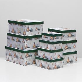 """Набор коробок 10 в 1 """"Новогодний декор"""", 37,5 х 29 х 16 - 19 х 13 х 7,5 см"""