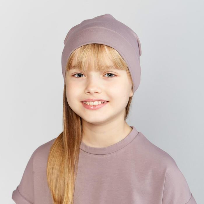 Шапка детская цвет серый, р-р 54 - фото 2054965