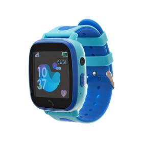 """Смарт-часы Prolike PLSW11BL, детские, цветной дисплей 1.44"""", IP67, 400 мАч, голубые"""