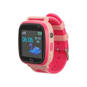 """Смарт-часы Prolike PLSW11PN, детские, цветной дисплей 1.44"""", IP67, 400 мАч, розовые"""