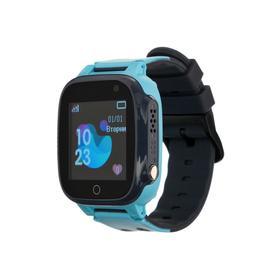 """Смарт-часы Prolike PLSW15BL, детские, цветной дисплей 1.44"""", 400 мАч, голубые"""