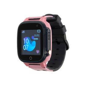 """Смарт-часы Prolike PLSW15PN, детские, цветной дисплей 1.44"""", 400 мАч, розовые"""