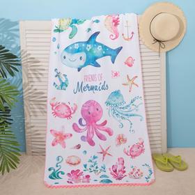 "Beach towel Ethel ""Friends"", 75*140 cm, microfiber, 100% p/e"