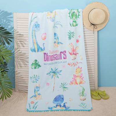"""Beach towel Ethel """"Dinosaurs"""", 75*140 cm, microfiber, 100% p/e"""