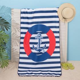 "Beach towel Ethel ""Anchor"", 75*140 cm, microfiber, 100% p/e"