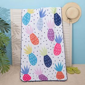"Beach towel Ethel ""Pineapples"", 75*140 cm, microfiber, 100% p/e"