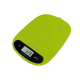 Весы кухонные Oursson KS0504PD/GA, электронные, до 5 кг, сенсор, 1хCR2032, зелёные