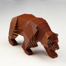 """Деревянный конструктор """"Медведь"""", с набором карандашей"""