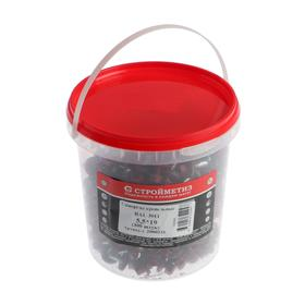 Саморез  5,5х19 кровельный, красно-коричневый RAL 3011, ведро, в упаковке 300 шт.