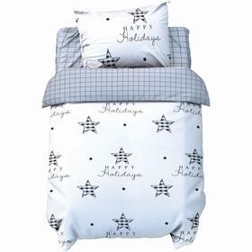 Постельное бельё Крошка Я бейби «Звёзды», 147х112 см, 60х120 + 20 см, 40х60 см