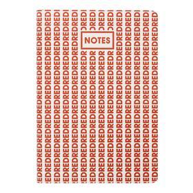 Записная книжка А6+, 96 листов ColorMania. Red, интегральная обложка, искусственная кожа, ляссе, тонированный блок 70 г/м2