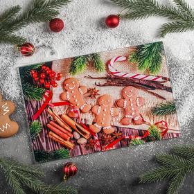 Доска разделочная «Новогодняя суета», 30×20 см