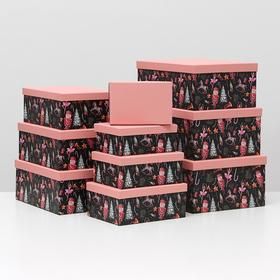 """Набор коробок 10 в 1 """"Щелкунчик"""", 37,5 х 29 х 16 - 19 х 13 х 7,5 см"""