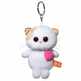 Мягкая игрушка-брелок «Кошечка Ли Ли брелок с розовым сердцем», 12 см