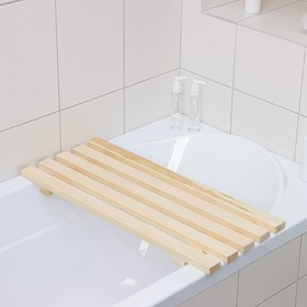 Решётка-трапик для бани и ванны малый 70×30×4 см, осина, сорт А