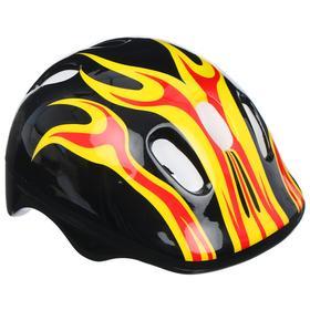 Шлем защитный детский OT-H6, размер M (55-58 см), цвет чёрный