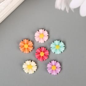 """Декор для творчества пластик """"Разноцветные герберы"""" набор 30 шт 1х1 см"""