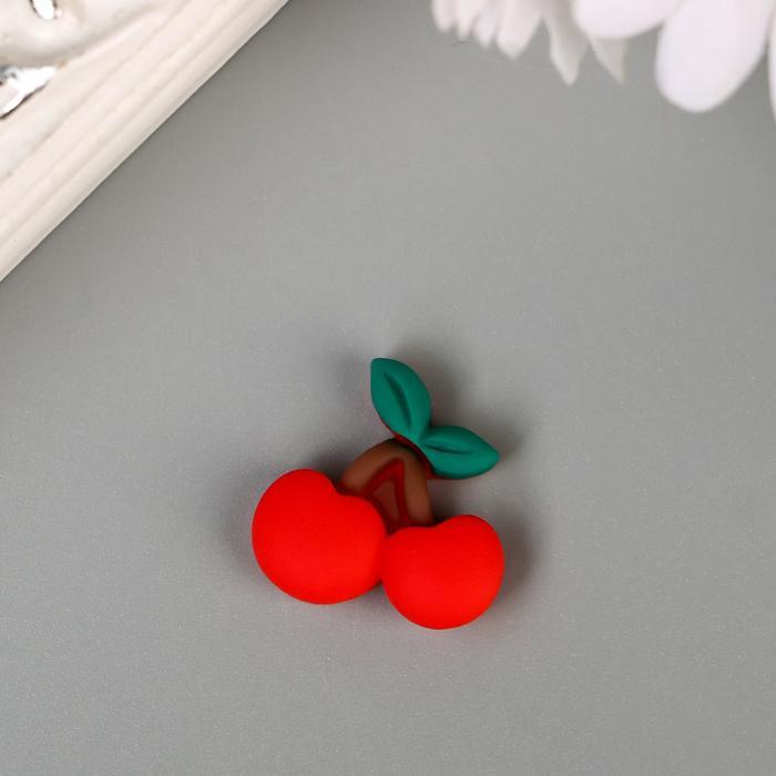"""Декор для творчества пластик """"Вишенки"""" набор 10 шт 1,8х1,8 см - фото 420572"""