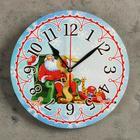 "Wall clock, series: New year, ""Santa Claus"", d=24 cm, smooth running"