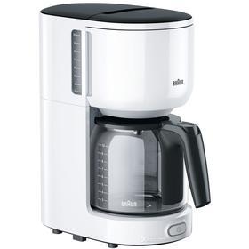 Кофеварка Braun KF 3100 WH, капельная, 1000 Вт, 1.3 л, автоотключение, белая