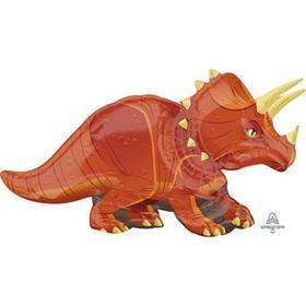 """Шар фольгированный 42"""" «Динозавр Трицератопс», фигура"""