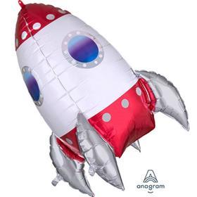 """Шар фольгированный 29"""" «Ракета», фигура"""