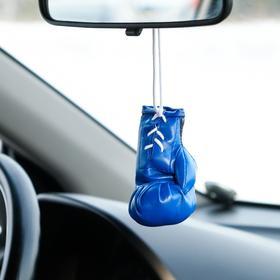 """Украшение на зеркало """"Боксерская перчатка"""", 9×5 см, синий"""