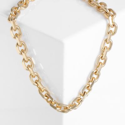 "Necklace"" Chain "" oval links, color matte gold, 45 cm"