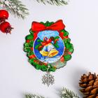 """Magnet with """"Wreath"""" element, 6 x 6.2 cm"""