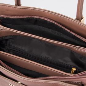 Сумка женская, отдел на молнии, наружный карман, длинный ремень, цвет пудра - фото 51045