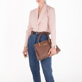Сумка женская, отдел на молнии, наружный карман, длинный ремень, цвет пудра - фото 51046