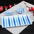 """Sushi set 3 pre """"Iskra"""" saucers 8x2 cm, 8x6x1 cm, stand 25x15x3 cm"""