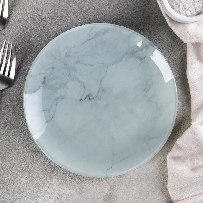 "Plate pie ""marble white"" 18x1, 6 cm"