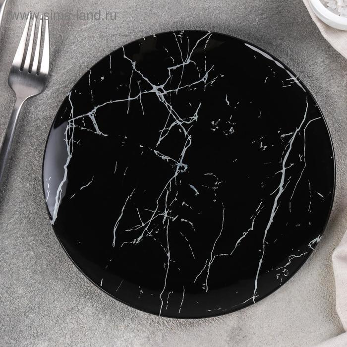 "Plate pie ""marble black"" 18x1, 6 cm"