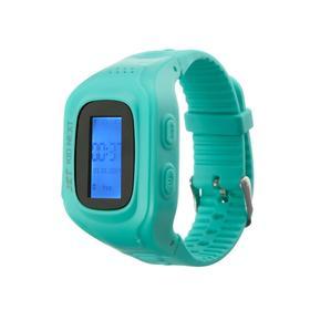 """Смарт-часы Jet KID NEXT, детские, дисплей 0.64"""", SIM-карта, GPRS, BT, бирюзовые"""