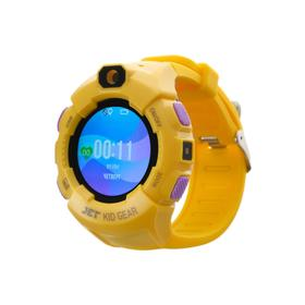 """Смарт-часы Jet KID GEAR, детские, цветной дисплей 1.44"""" SIM-карта, камера, желто-фиолетовые"""
