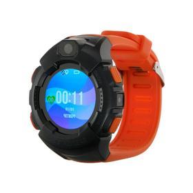 """Смарт-часы Jet KID GEAR, детские цветной дисплей 1.44"""" SIM-карта, камера, оранжево-серые"""