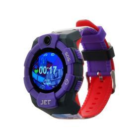 """Смарт-часы Jet KID Megatron vs Optimus Prime, детские, цветной дисплей 1.44"""", фиолетовые"""