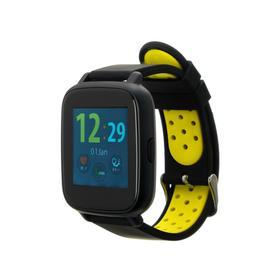 """Смарт-часы Jet SPORT SW-5, цветной дисплей 1.44"""", Bluetooth 4.0, IP68,  желтые"""
