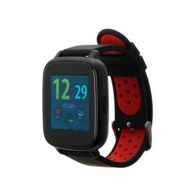 """Смарт-часы Jet SPORT SW-5, цветной дисплей 1.44"""", Bluetooth 4.0, IP68,  красные"""