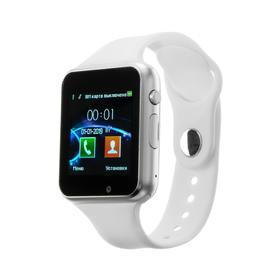 """Смарт-часы Jet PHONE SP1, цветной дисплей 1.54"""", Bluetooth 4.0, камера, серебристые"""