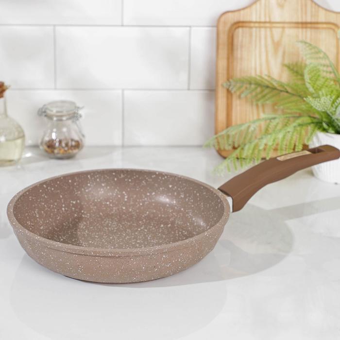 Сковорода «Гранит brown brilliant», d=22 см, антипригарное покрытие - фото 207399