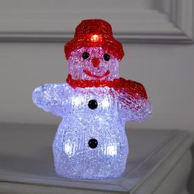 "Фигура акрил.""Снеговичок"" 15х7х7 см, 2хАА (не в компл), 8 LED, БЕЛЫЙ"