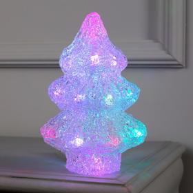 """Фигура акрил.""""Елочка маленькая"""" 21х7х7 см, 20 LED, AAx2 (не в компл.), RGB"""