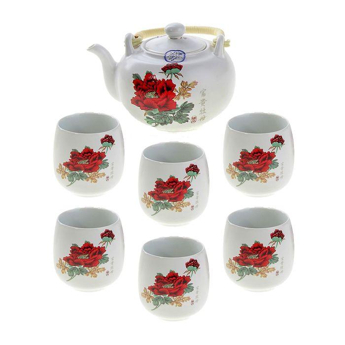 """Набор для чайной церемонии 7 предметов """"Май"""" (чайник 700 мл, чашка 70 мл)"""