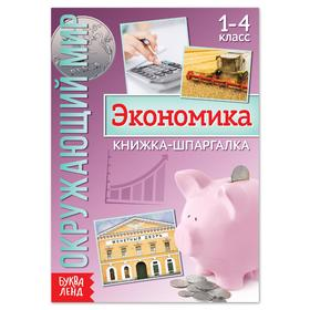 Книжка-шпаргалка 'Окружающий мир. Экономика', 8 стр. Ош