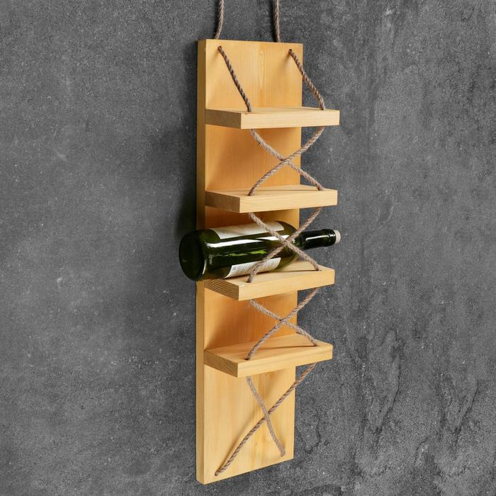 """Полка винная """"Бриссен"""", светлая, 18,5×11×70 см"""
