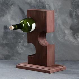"""Подставка для вина """"Ледж"""", тёмная, 24×14×34 см"""