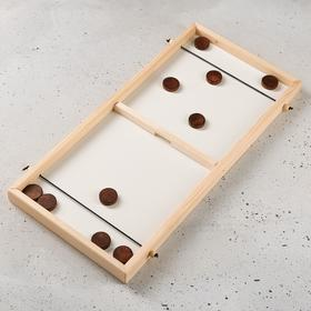 """Сувенирная настольная игра """"Дабл Слинг"""", 51,5 х 25 см, массив сосны"""